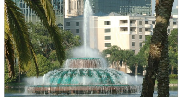 Is Orlando a Popular Place to Live?  Views of the Iconic Lake Eola Fountain in Downtown Orlando.