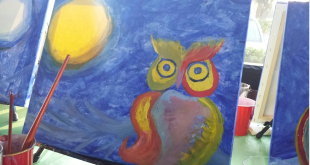 Paint Nite Orlando, Two hour social painting class.  Great Orlando Date Night idea!