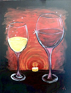Painting with a twist about orlando for Wine and paint orlando