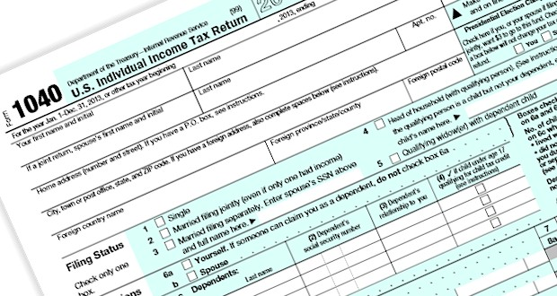 1040 Tax Return image for 2015