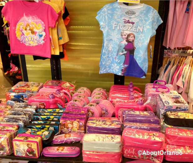 Gusi Souvenirs - Discount FROZEN Disney items  at Artegon Marketplace on International Drive, Orlando