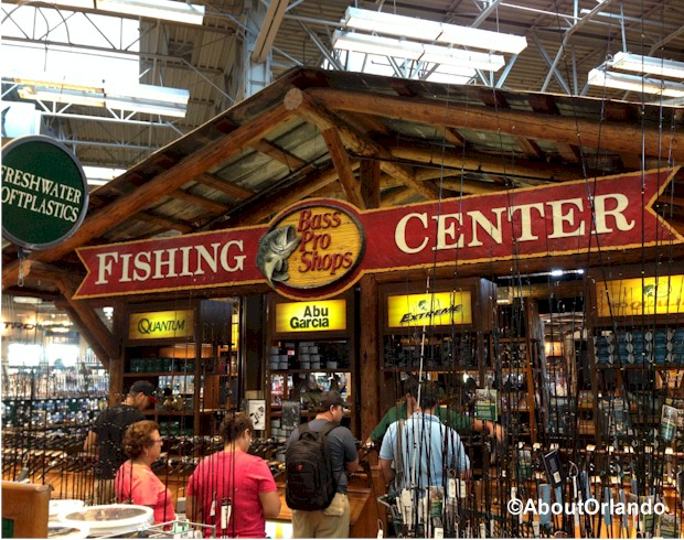 Get your fishing gear in tip-top shape at Bass Pro Shops Orlando