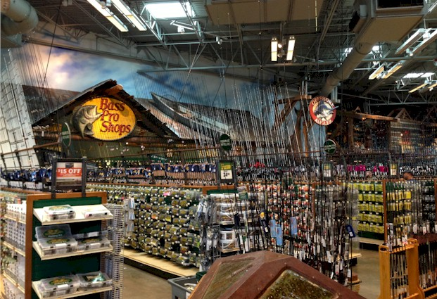 Fishing Department at Bass Pro Shops Orlando