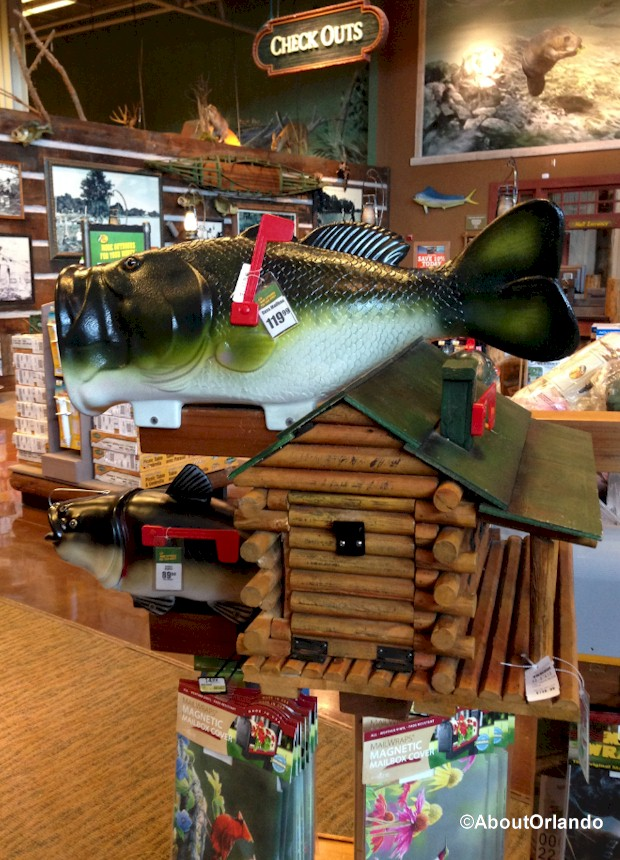 Your home will be the talk of the neighborhood with a fish mailbox from Bass Pro Shops Orlando