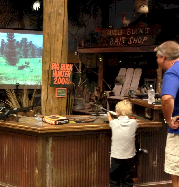 Kids have fun at the shooting range at Bass Pro Shops Orlando