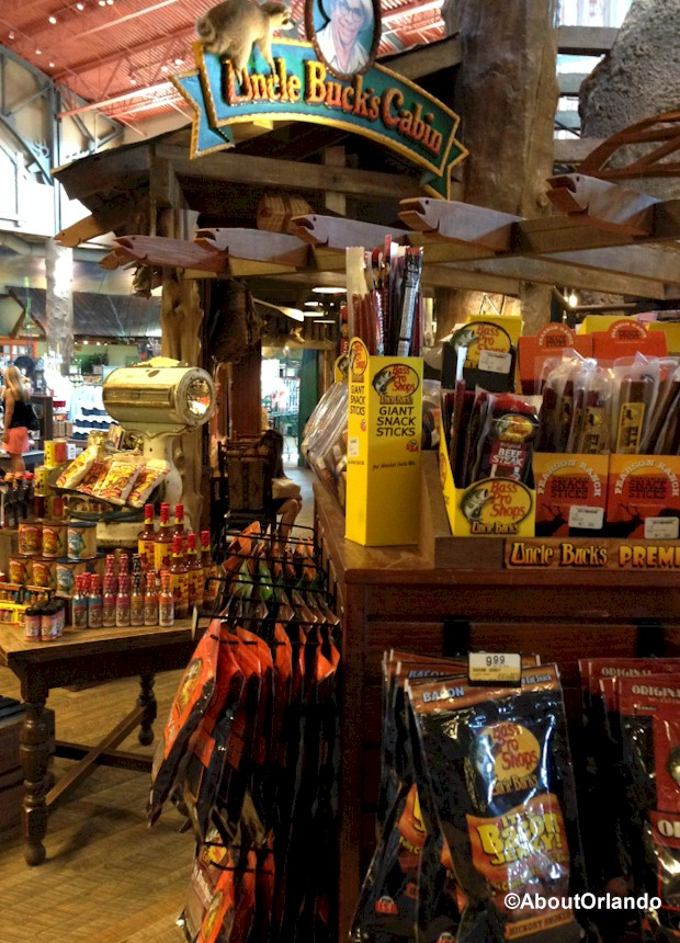 Even beef jerky is sold at Bass Pro Shops Orlando