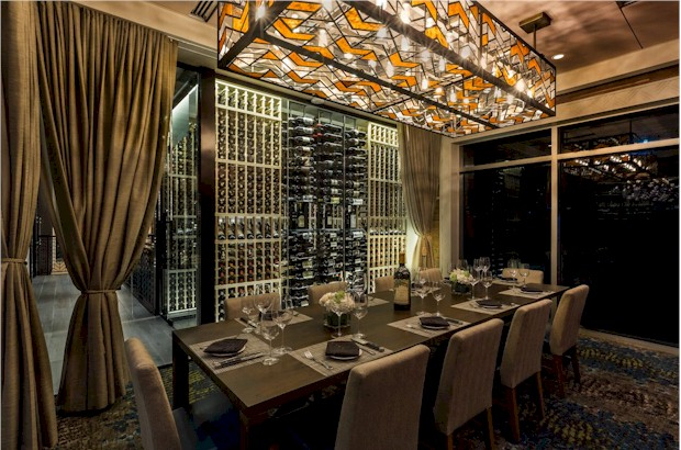 Private dining table at Del Frisco's in Orlando