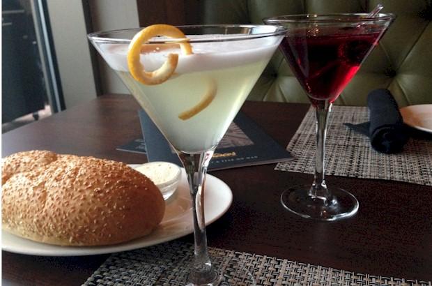 VIP martini at Del Frisco's in Orlando