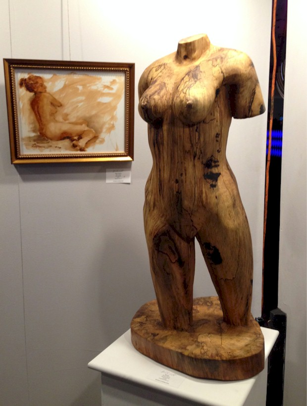 Nude Nite Wood Sculpture