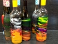 Art bottles at Pinot's Palette