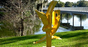 Outdoor art sculptures at the Menello Museum in Orlando.  AboutOrlando.com #sculpture