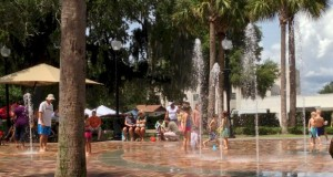 Splash Pad in downtown Winter Garden.  Free Orlando area splash pads