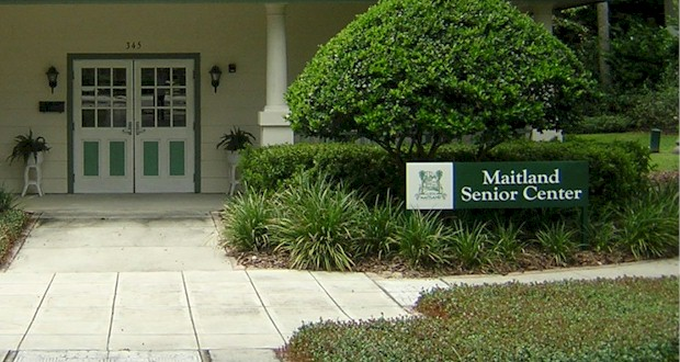 Maitland Senior Center with classes and activities for those 55+.