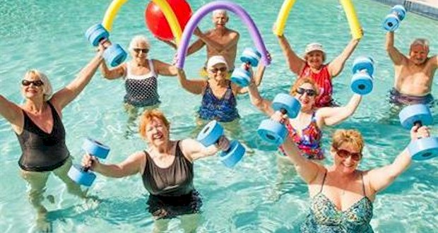 Water Aerobics at the Sanford Senior Center in Seminole County.